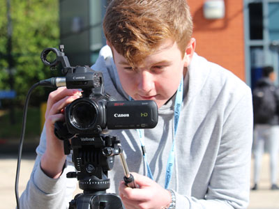 Discover an industry with global opportunities with our exciting range of Media and Film A Level and Vocational programmes.