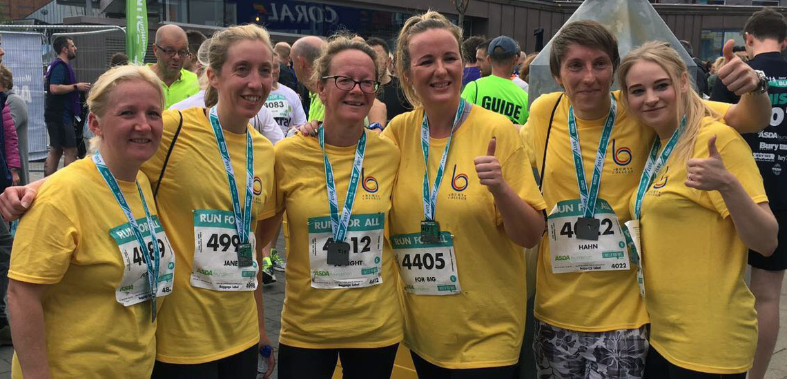 Bury College staff run 10km