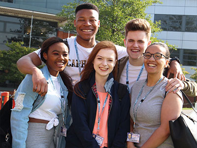 Students at Bury College
