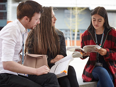 Students Studying at Bury College