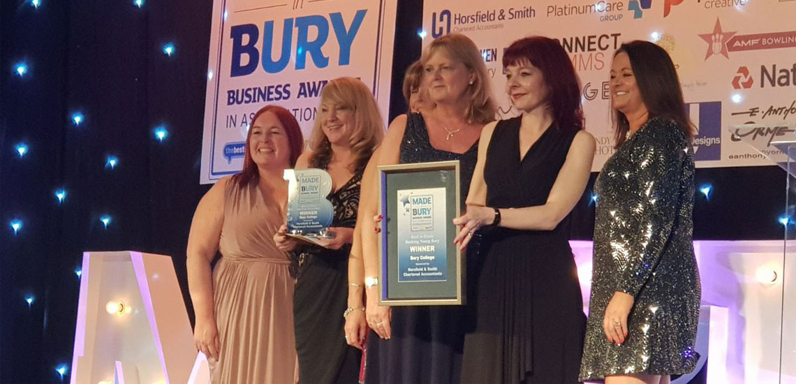 Bury College Delighted to Receive First Place in Made in Bury Business Awards 2017