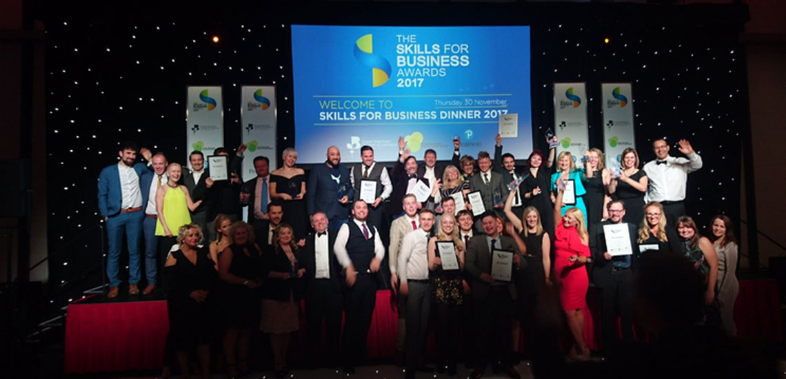 Celebration of Success at Skills for Business Awards 2017