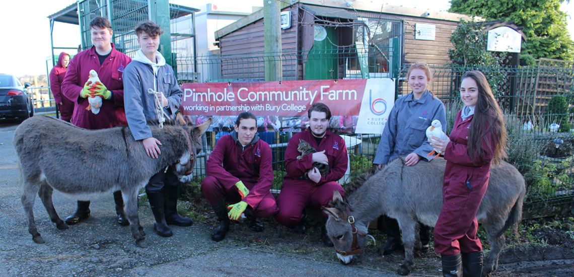 Bury College Celebrates Partnership with Pimhole Community Farm