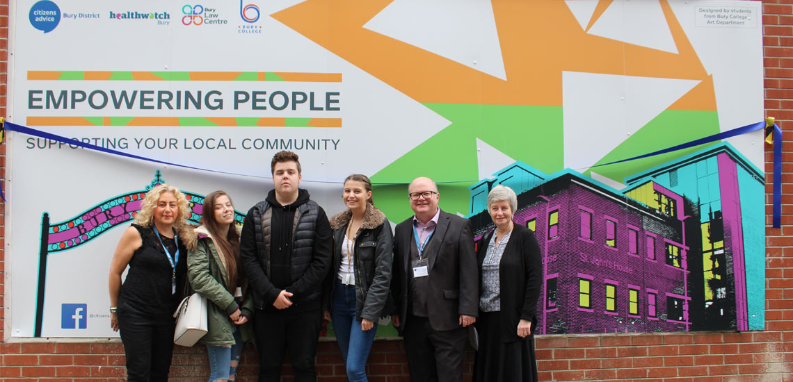 Bury Business Unveils Student Artwork graphics design