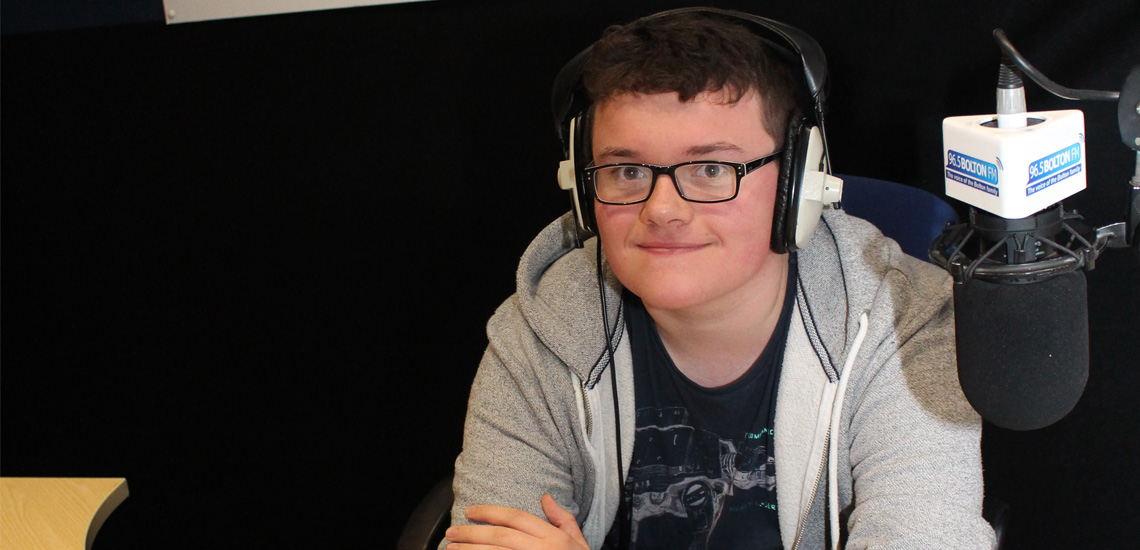 Student Hits the Airwaves during Work Experience Stint