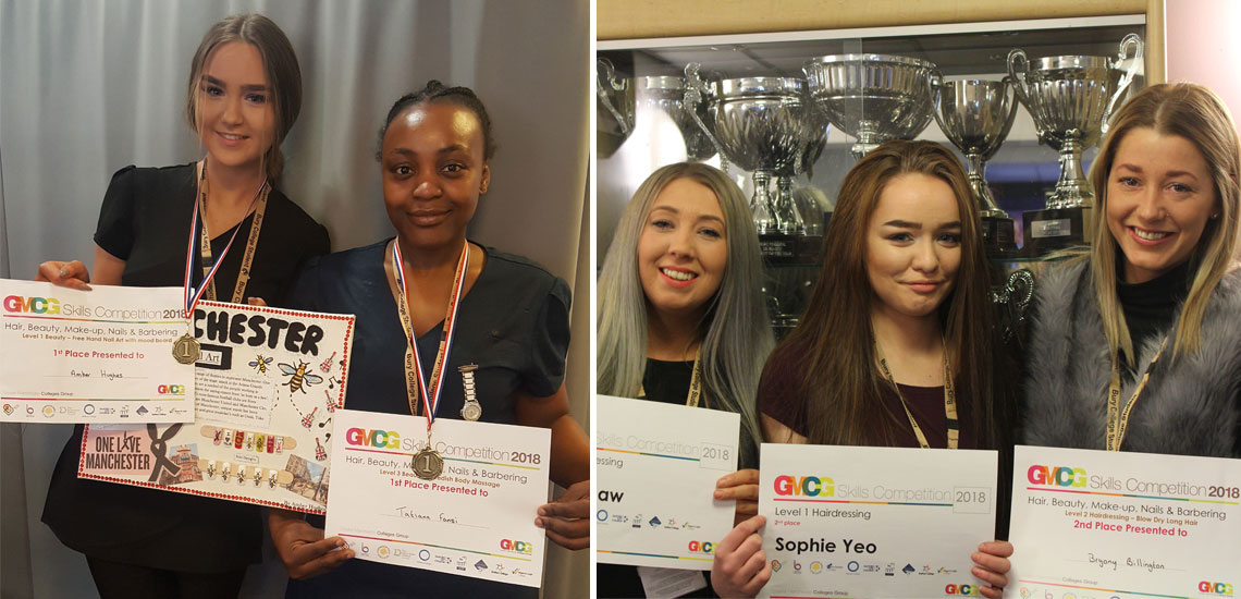 Bury College Hair and Beauty Students Double Competition Success
